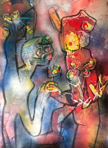 Roberto MATTA - Pittura - Untitled