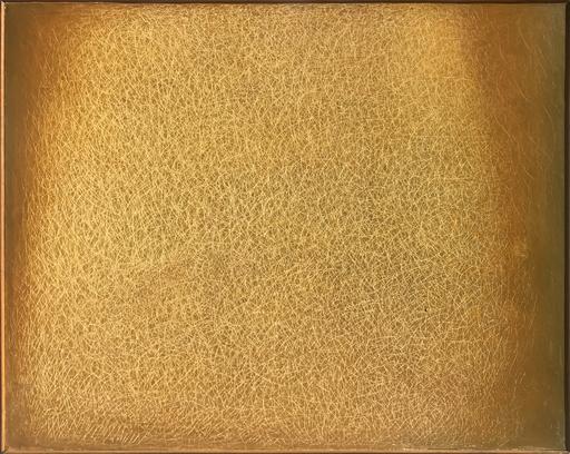 Mario DELUIGI - Pintura - Grattage Giallo GJ 101