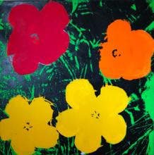 Andy WARHOL - Peinture - Flowers Orange