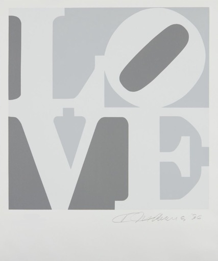 Robert INDIANA - Estampe-Multiple - Love #2 (from the Book of Love)