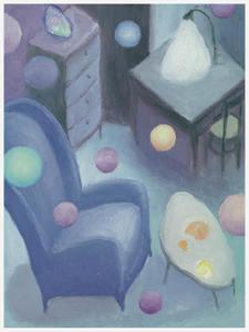 Pino DEODATO - Painting - Nove poltrone per nove filosofi
