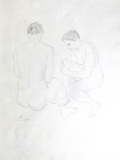Tsuguharu FOUJITA - Print-Multiple - Etude de Nus