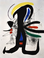 Joan MIRO - Grabado - So and So and her Little Husband