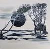 Gerd ZIMMERMANN (1943/44) - Dunkle Sonne weißer Strand 2014 Öl auf Acrl