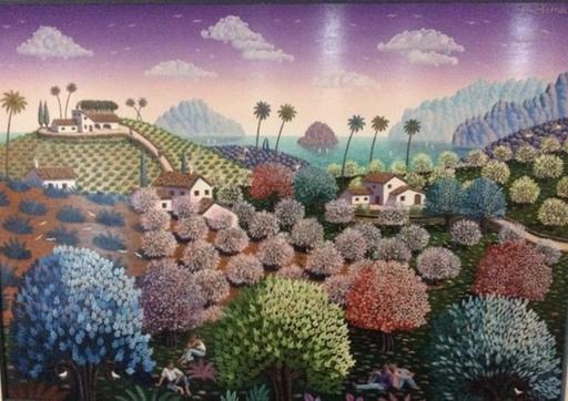 Juan BORRAS - Peinture - Primavera relajada