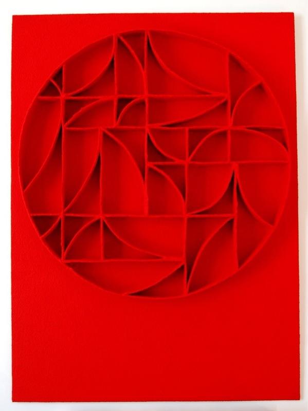 René GALASSI - Pintura - Calicots rouges