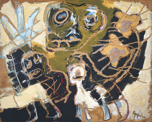 Karel APPEL - Pintura - Merry Nomads no. 1