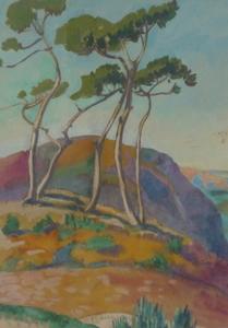 Jean HOURREGUE - Disegno Acquarello