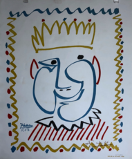 巴勃罗•毕加索 - 版画 - Tete de Roi