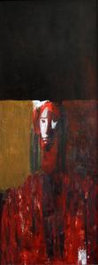 Zurab GIKASHVILI - Gemälde - Red portrait