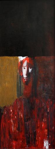 Zurab GIKASHVILI - Painting - Red portrait