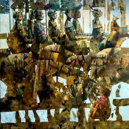 Bobur ISMOILOV - Peinture - The War