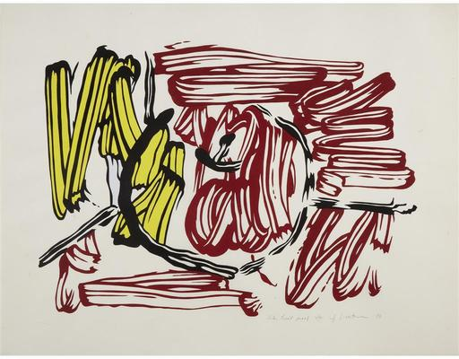 Roy LICHTENSTEIN - Print-Multiple - Red and Yellow Apple