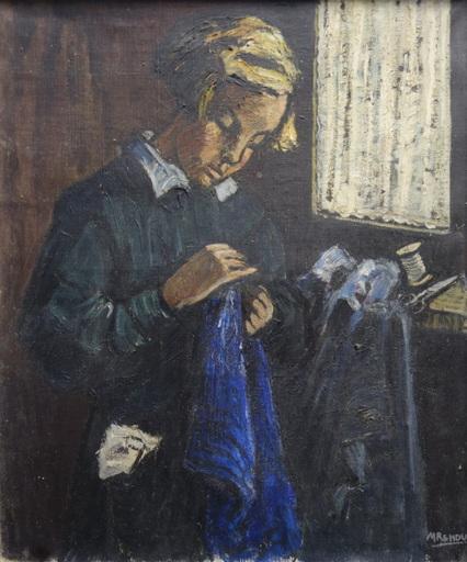 """Marcel RENDU - Painting - """"La Couture"""""""