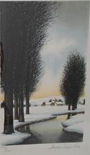 Jacques DEPERTHES - Grabado - Paysage d'hiver /  Winter landscape