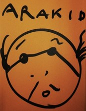 Nobuyoshi ARAKI - Dibujo Acuarela - « Arakid – Tokyo Kids »