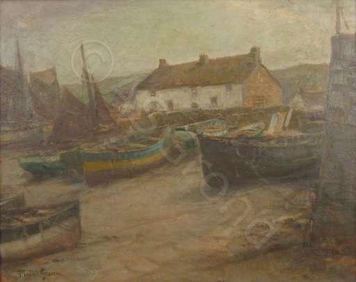 Franz MÜLLER-GOSSEN - Pintura - Sennen Cove in Cornwall, England