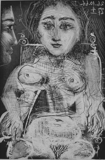 Pablo PICASSO - Stampa-Multiplo - Portrait of Jacqueline in the Armchair