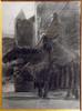 Ulpiano CHECA Y SANZ - Drawing-Watercolor - Guerrier à cheval, avec lance,  devant le château