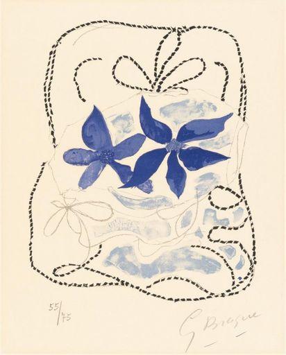 Georges BRAQUE - Print-Multiple - Les deux iris bleus