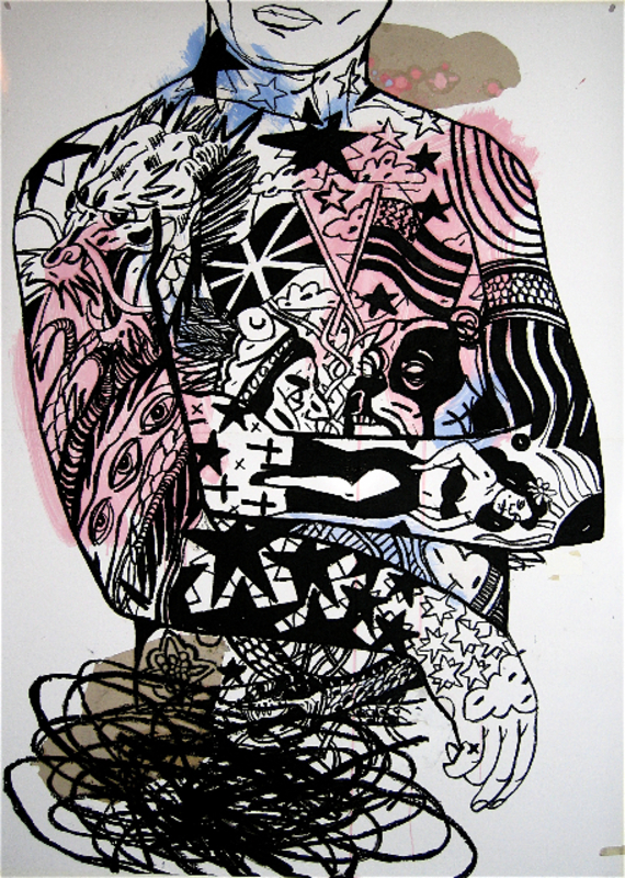 Frédéric ARDITI - Drawing-Watercolor - Rétable