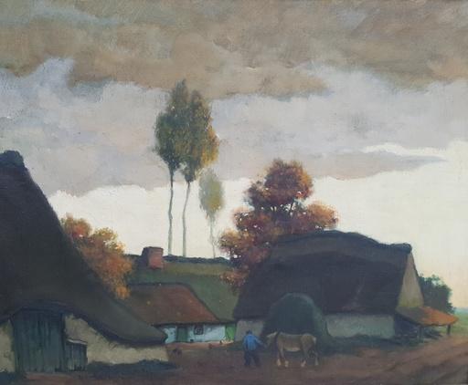 Théophile VERSTREKEN - Peinture - Hoevelandschap