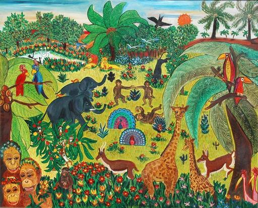 Danielle KARSENTY - Peinture - jungle de joie