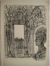Jean CARZOU - Grabado - LITHOGRAPHIE 1972 SIGNÉE CRAYON NUM/25 HANDSIGNED LITHOGRAPH