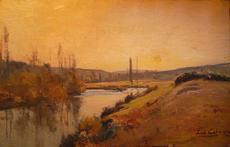 Louis Alexandre CABIÉ - Pintura - Paysage de Dordogne