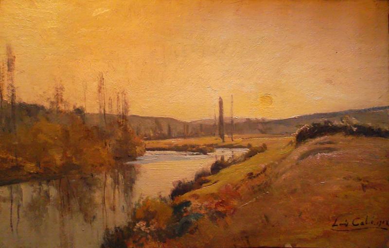 Louis alexandre cabi paysage de dordogne 1128385 for Artiste peintre dordogne