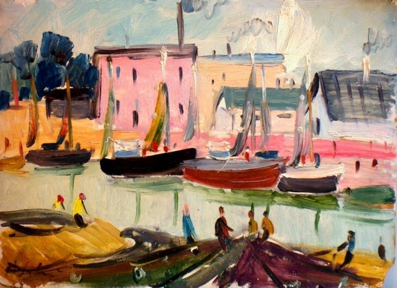 Herberts SILINS - 绘画 - At the Sea