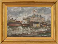 Sergei GERASIMOV (1885-1964) - russian harbour