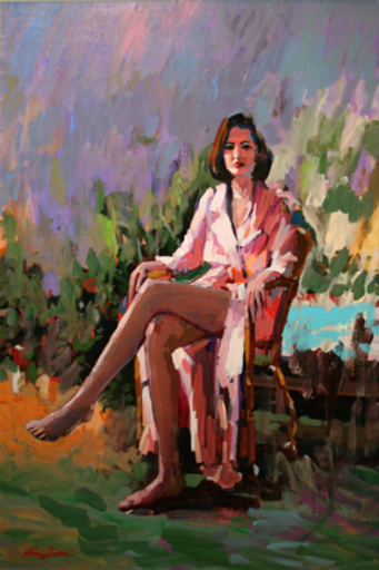 Kerry HALLAM - Pintura - Unknown (Woman)