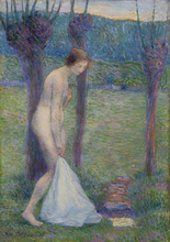 Hippolyte PETITJEAN - Painting - Baigneuse
