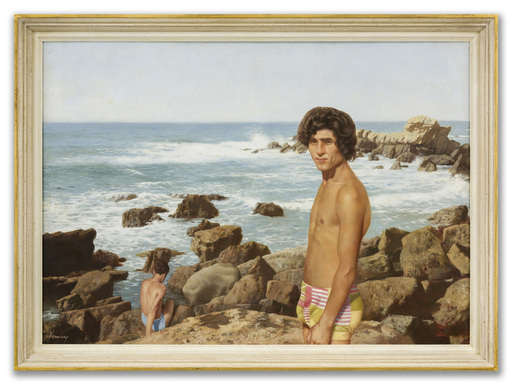 Patrick HENNESSY - Painting - Kassim by the Sea