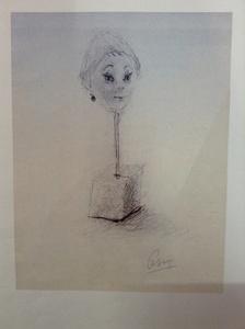 CÉSAR - Dessin-Aquarelle - Portrait De Gulliana
