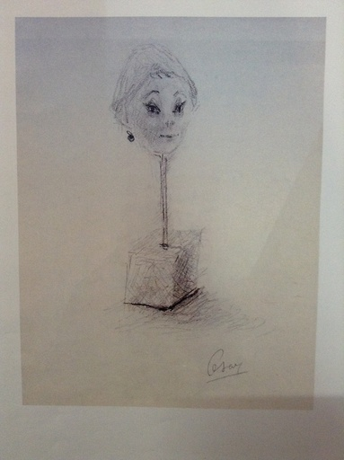 CÉSAR - Drawing-Watercolor - Portrait De Gulliana