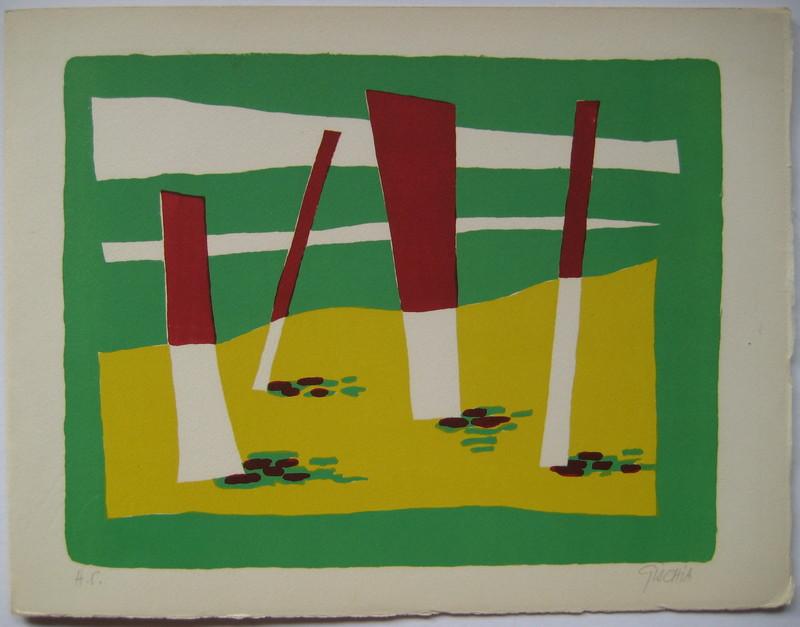 Léon GISCHIA - Print-Multiple - LITHOGRAPHIE 1954 SIGNÉE AU CRAYON HC HANDSIGNED LITHOGRAPH