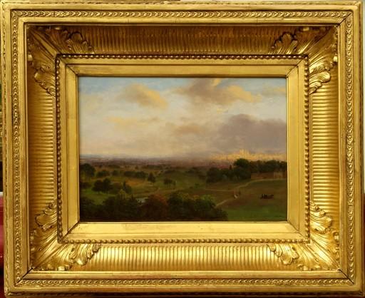 Andreas SCHELFHOUT - Peinture - PAYSAGE AVEC UNE VILLE AU LOIN