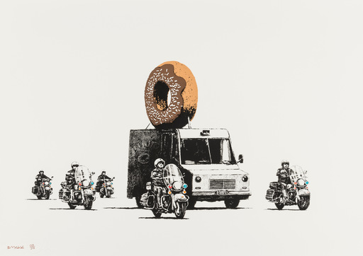 BANKSY - Estampe-Multiple - Donuts (Chocolate)