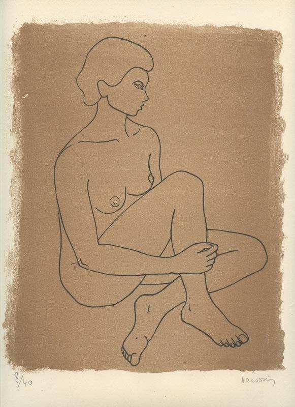 Marie-Thérèse VACOSSIN - Druckgrafik-Multiple - LITHOGRAPHIE SIGNÉ AU CRAYON NUM/40 HANDSIGNED LITHOGRAPH
