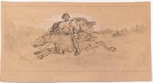 Adalbert Franz SELIGMANN - Dessin-Aquarelle - Two Drawings, late 19th Century