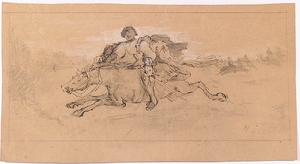 Adalbert Franz SELIGMANN - Dessin-Aquarelle - Two Drawings, late 19th Century
