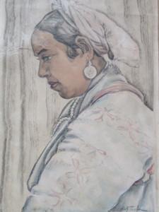Olek TESLAR - Drawing-Watercolor - Type marocain