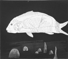 David HOCKNEY - Estampe-Multiple - The Boy Hidden in a Fish,