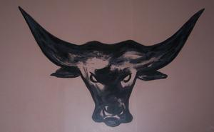 Ernst CIJULUS - Painting - Tête de Toro