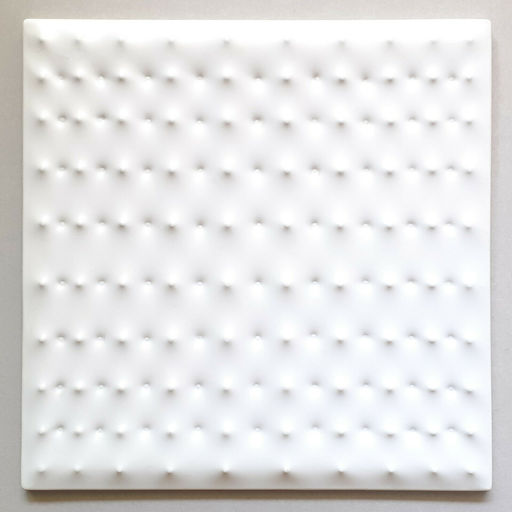 Enrico CASTELLANI - Grabado - Multiplo in PVC bianco