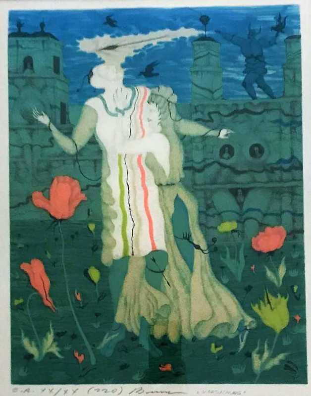 "Erich BRAUER - 版画 - ""Versuchung"""