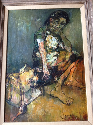 Jean JANSEM - Painting - Seated woman