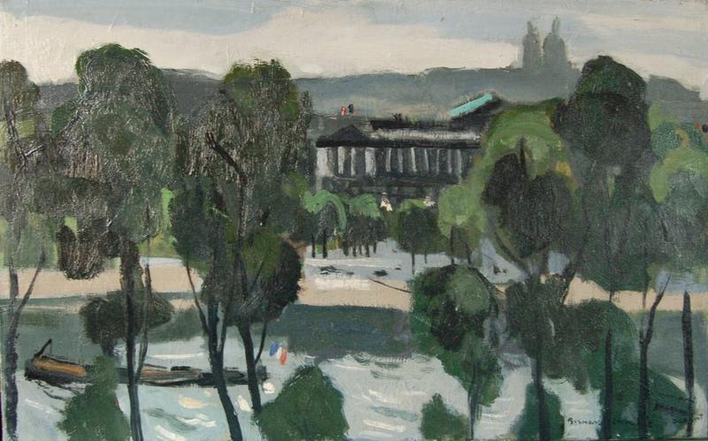 Bernard LAMOTTE - Pintura - Paris: place de la Concordre / Hôtel Crillon
